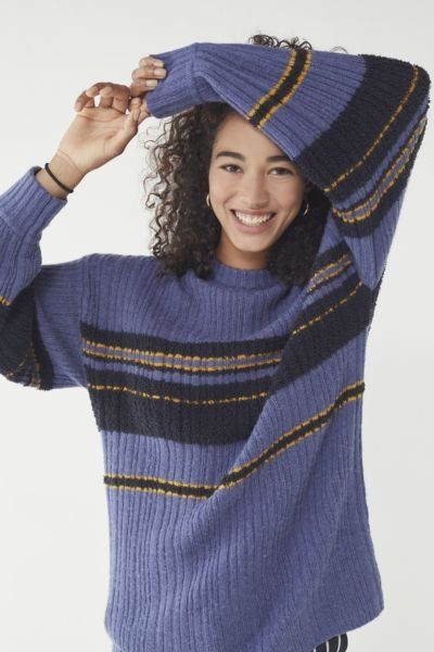 d7d514167 Shop UO Snuggle Up Striped Tunic Sweater at Urban Outfitters today.  Discover more selections just like this online or in-store. Shop your  favorite brands ...