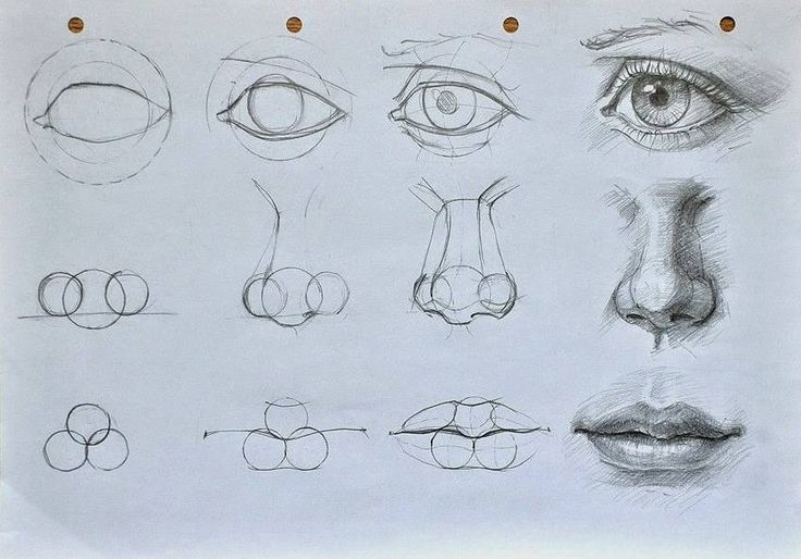 facial features cut outs also eyes nose and mouth templates along with ...