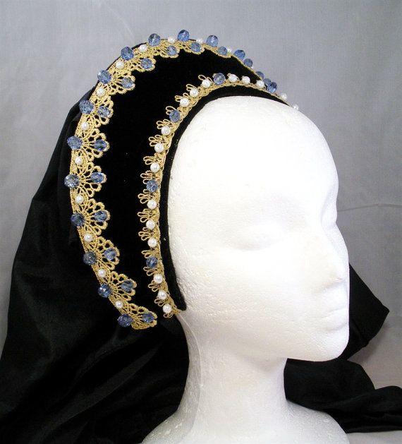 Coiffure Français Renaissance Tudor bandeau, Anne Boleyn, Reproduction Lady Maria
