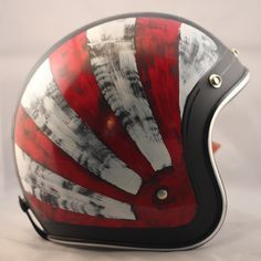 Distressed Red  White One-Of-A-Kind Biltwell custom painted helmet. $269 Available here: http://sqi.sh/ewQ