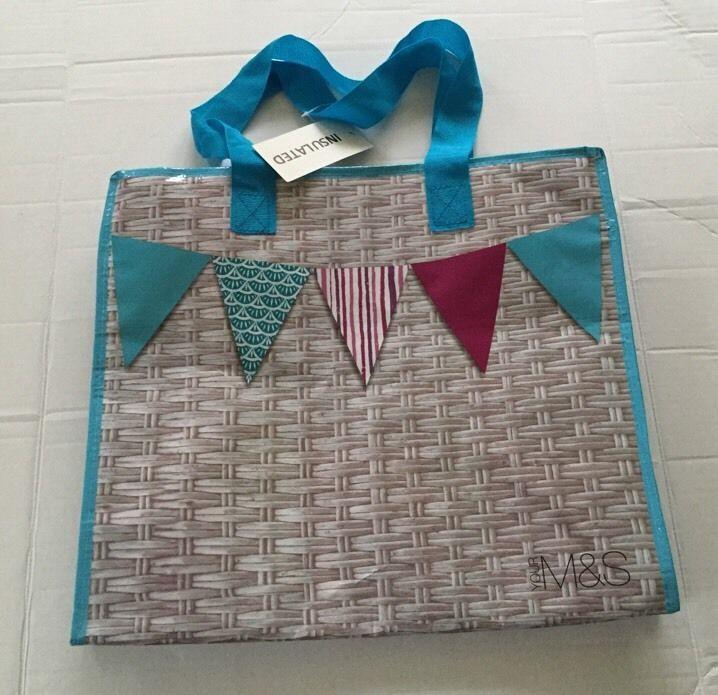 M&S Insulated Tote Eco Bag Marks Spencer British Summer New Zipper Cooler Reuse #MarksandSpencer