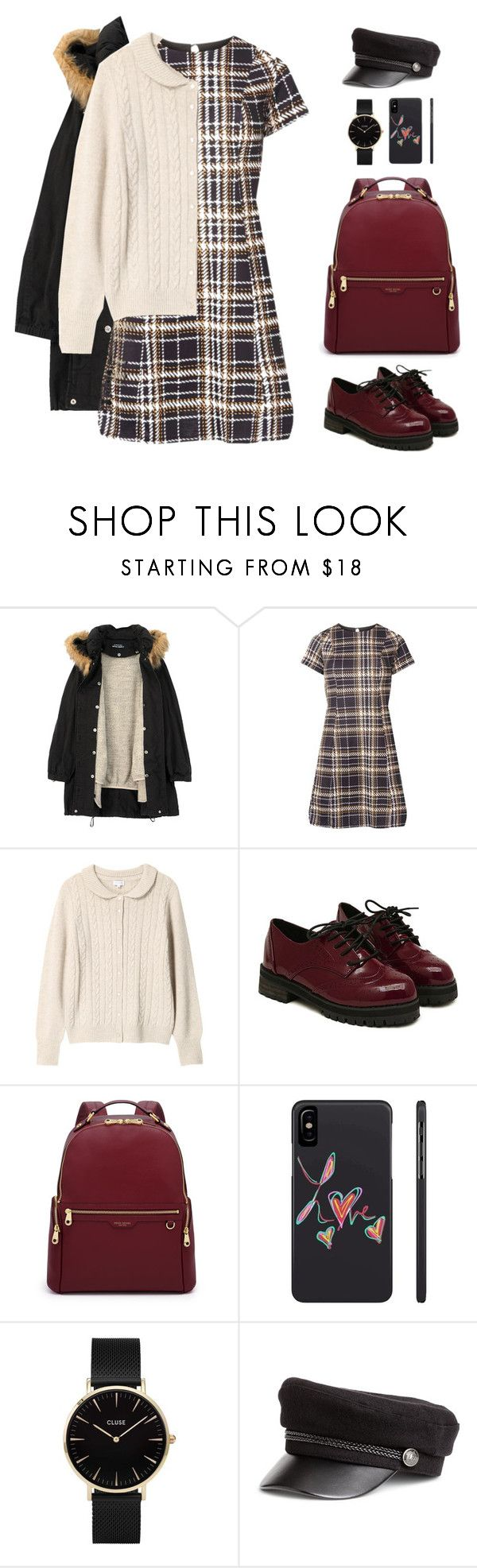 """""""a touch of death"""" by wang852g7 ❤ liked on Polyvore featuring beauty, Humör, Dorothy Perkins, Mackintosh Philosophy, Henri Bendel and CLUSE"""