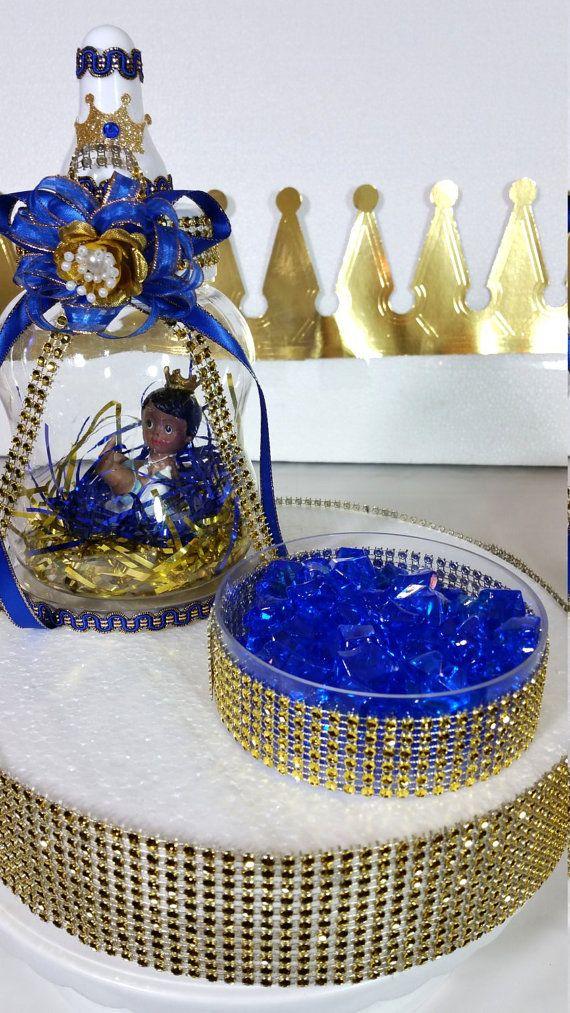 Real el príncipe Baby Shower centro de mesa por PlatinumDiaperCakes