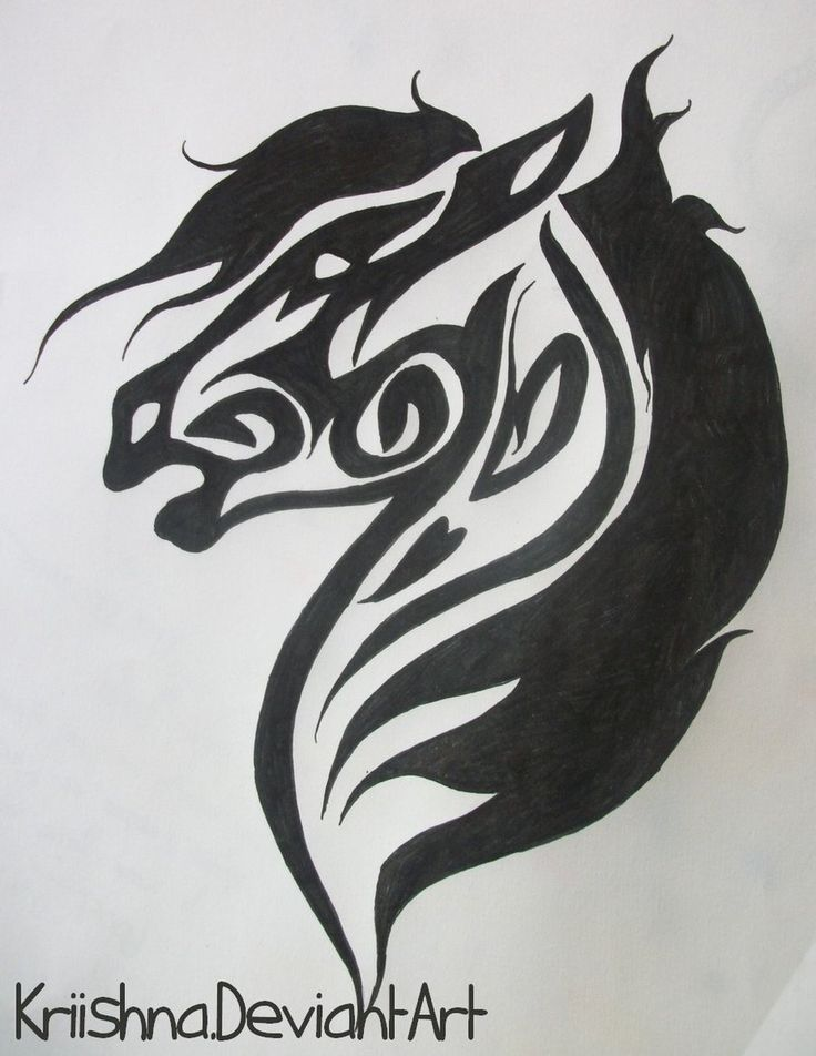 Tribal Horse by Kriishna.deviantart.com