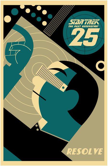 Star Trek: The Next Generation's 25th Anniversary print - Geordi