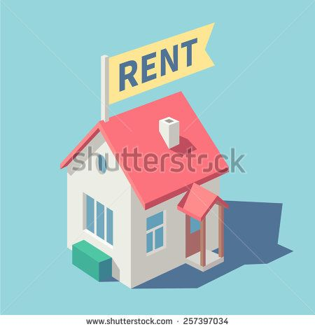 House for rent. Vector illustration.