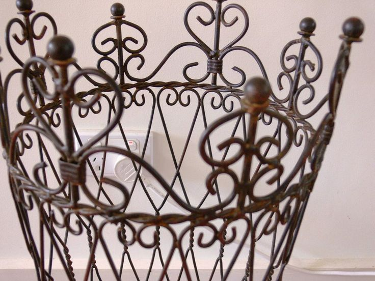 BEAUTIFUL FRENCH UMBRELLA paper STAND WROUGHT IRON NEW