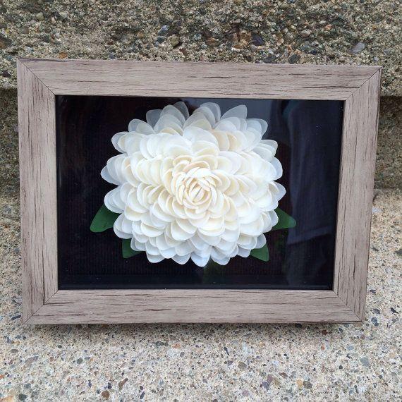 Seashell Flower Shadow Box (White Cay Cay Seashells ) US$70.00