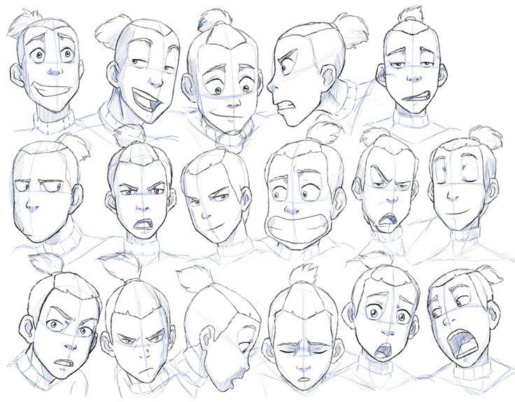 Avatar Last Airbender Character Design : Avatar the last airbender sokka expressions character