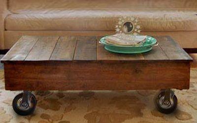 Salontafel van steigerhout maken op wielen