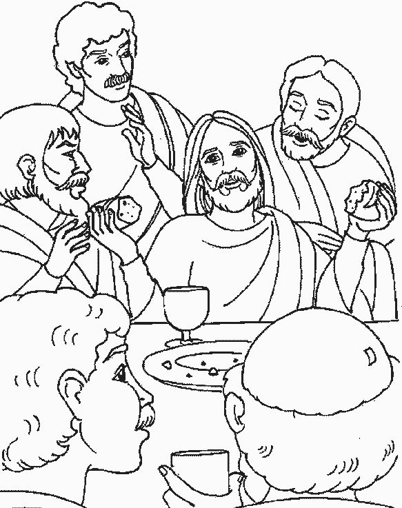 coloring pages last supper   27 best images about The Last Supper - Workshop Rotation ...