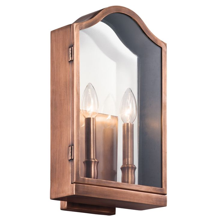 Kichler 49155ACO Antico 2 Light Outdoor Wall   Large In Antique Copper