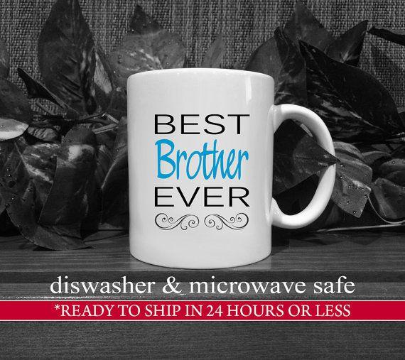 Black/Cobalt Best Brother Ever Coffee Mug, Gift For Brother, Brother Birthday Gift, Brother Coffee Mug, Unique Brother Gift, Brother Present