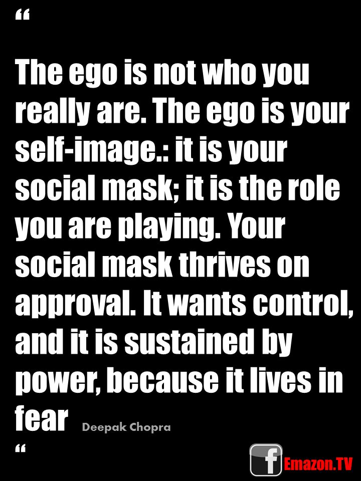 The EGO is not who you really are. #emazon #rebelology