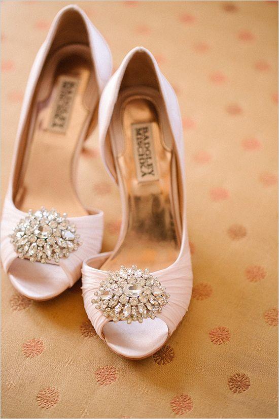 pink badgley mischka shoes @weddingchicks