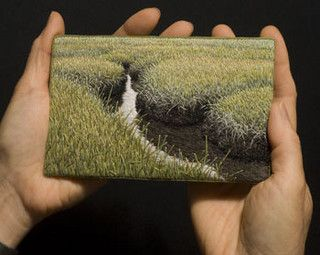 art embroidery - Summer Salt Marsh III by Linda Behar, via Flickr