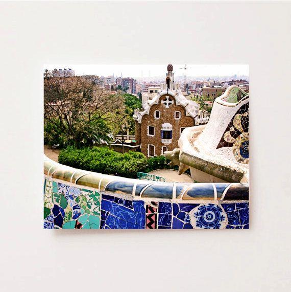 Barcelona Spain Photography Print- Parc Guell Photograph
