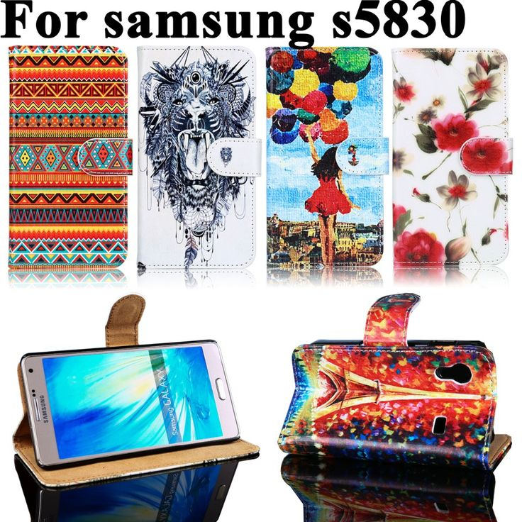 PU Leather Cases For Samsung Galaxy Ace La Fleur Hugo Boss S5830 S5830L S5830I GT-S5830i 5830 3.5 inch Case Covers Bags Housings