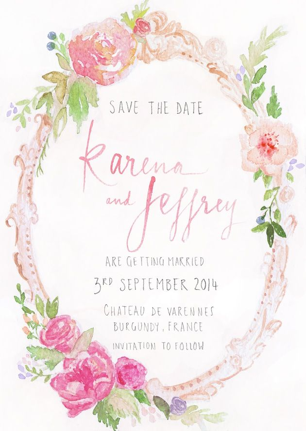 Unique watercolour wedding stationery by Gemma Milly | Bridal Musings