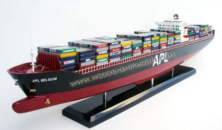 Wooden Ship Model APL container ship