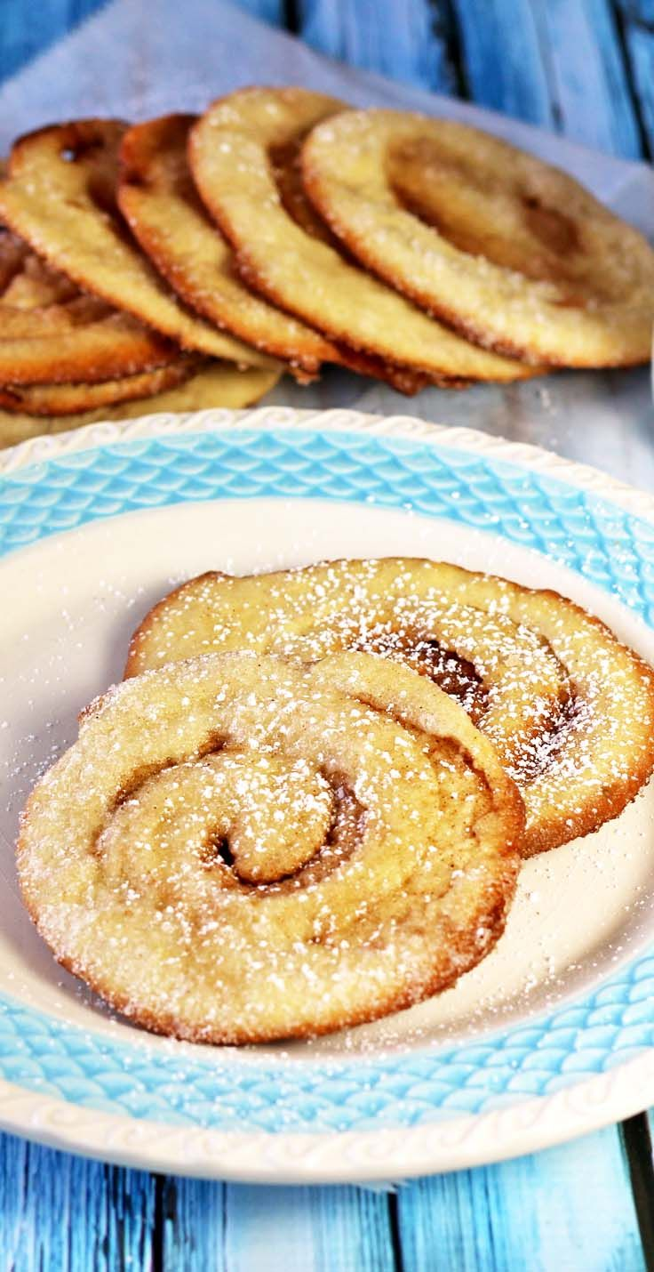 Baked Elephant Ears - They are crispy and full of cinnamon sweetness with caramelized sugar on the bottom and around the edges. About 100 calories each! Recipes Food and Cooking