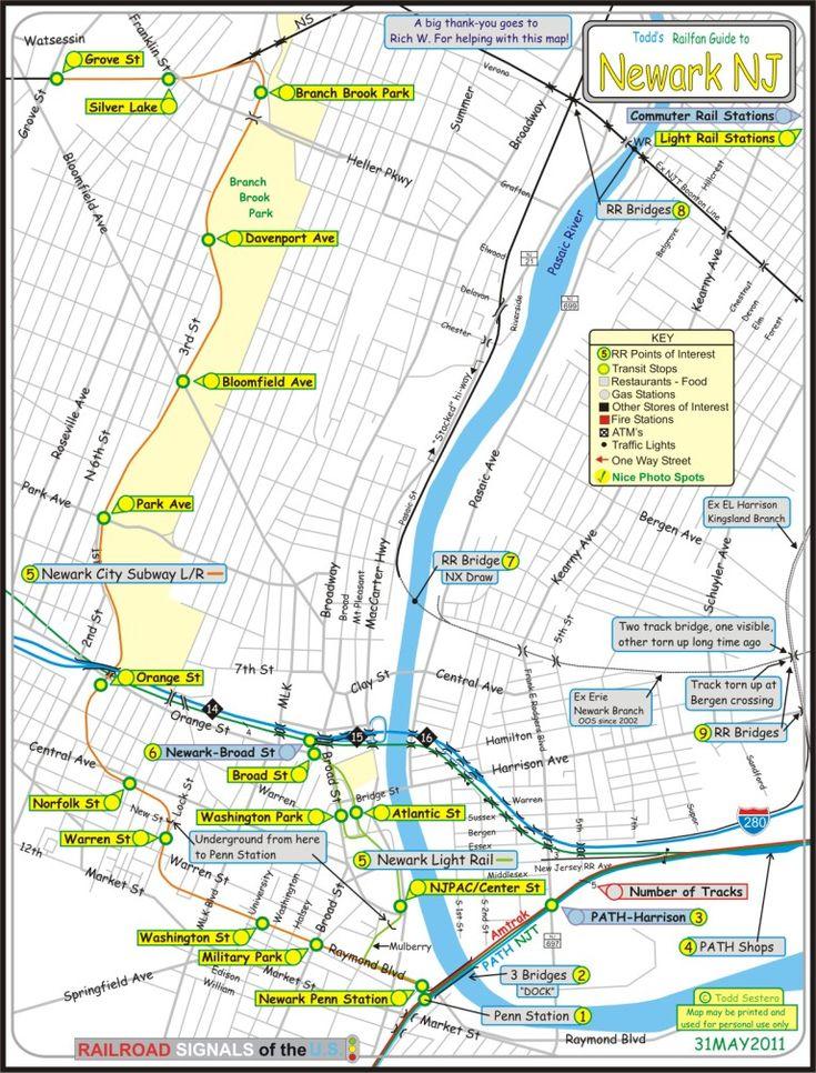 Railfan Guide to Newark NJ, RSUS | Newark, Light rail ...