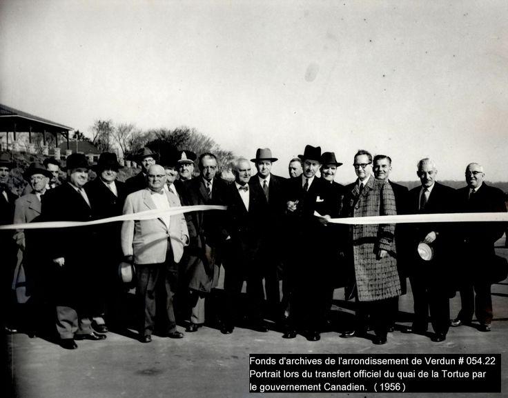 Inauguration (1956)    Crédit: Fonds d'archives de l'arrondissement de Verdun