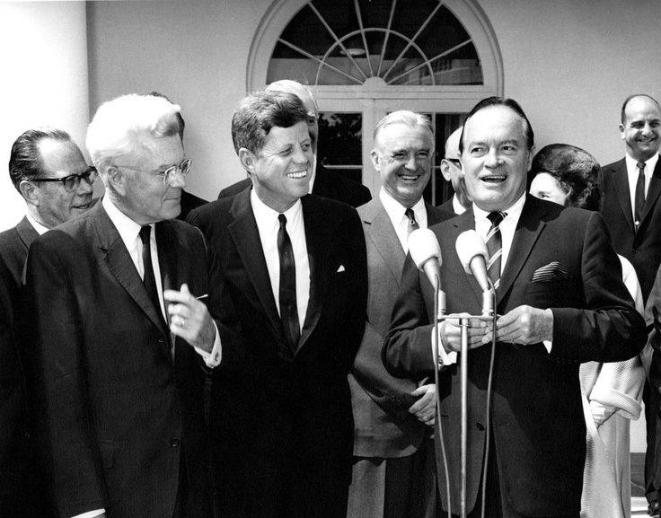 AR8107-C. President John F. Kennedy Presents Congressional Gold Medal to Entertainer, Bob Hope - John F. Kennedy Presidential Library & Museum