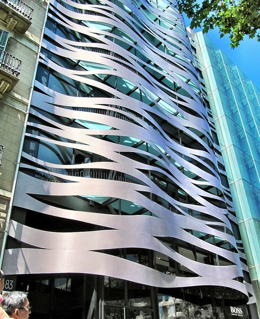 Hugo Boss Store and Apartments in Barcelona by Toyo Ito Associates