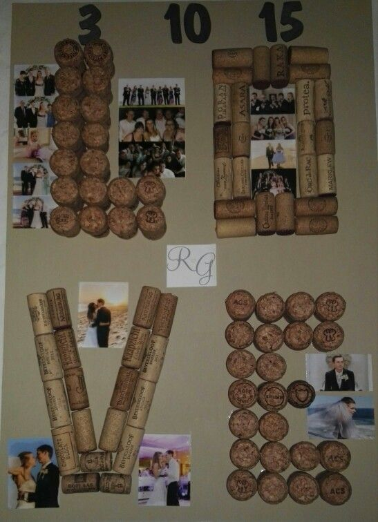 Arts and crafts... our wedding in corks