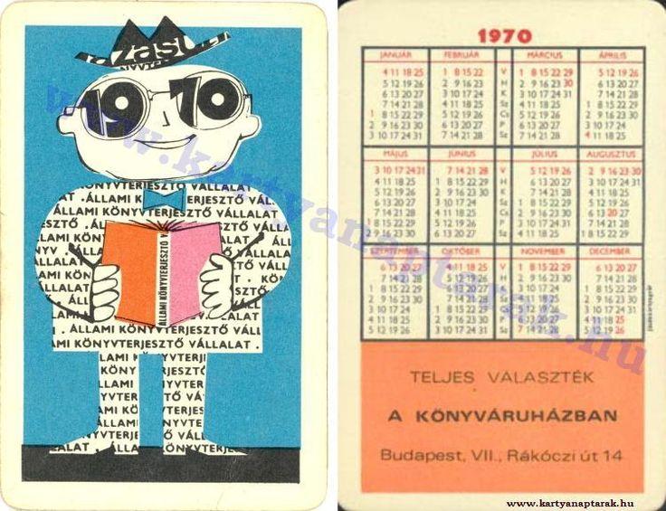 1970 - 1970_0444 - Régi magyar kártyanaptárak