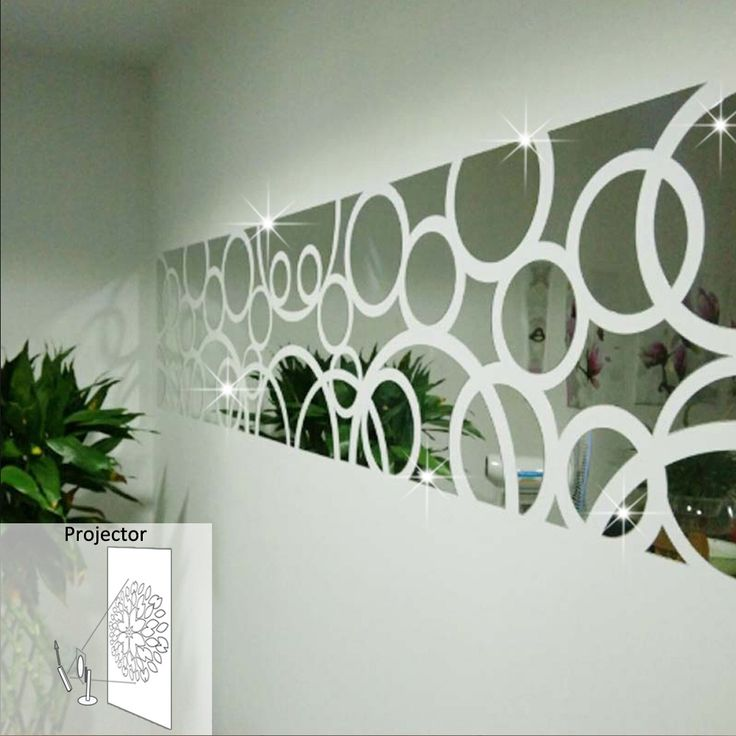 3d Three Dimensional Crystal Decorative Mirror Decals