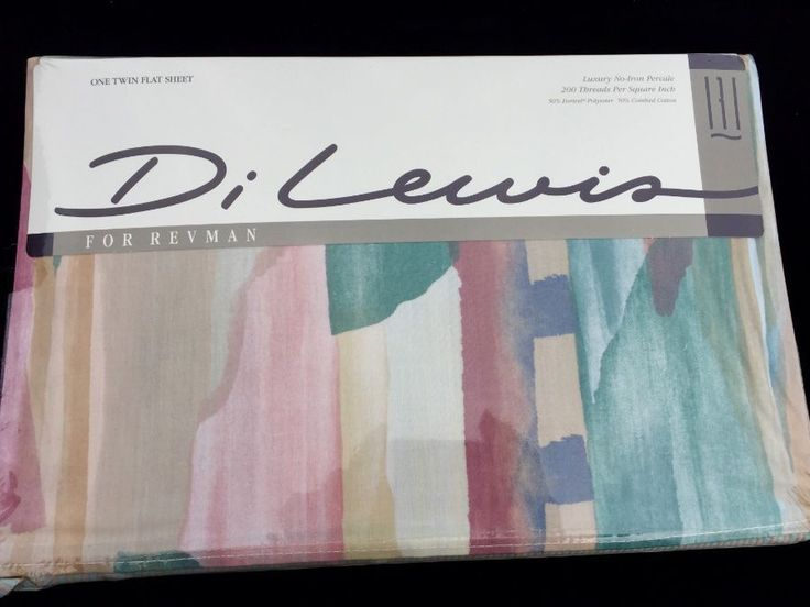 New 90's Expressions Twin Flat Sheet by Di Lewis for Revman #DiLewisforRevman