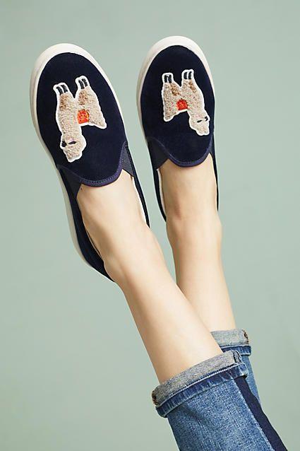 Soludos Velvet Llama Sneakers Anthropology #Sponsored