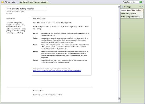 Best Of Cornell Notes Template Word: 17 Best Images About College Prep Resources On Pinterest