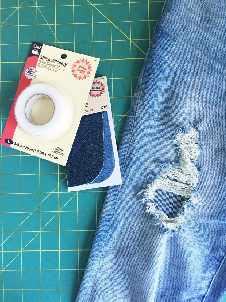 Merrick's Art // Style + Sewing for the Everyday Girl: QUICK FIX FRIDAY: HOW TO PATCH A HOLE IN YOUR JEANS