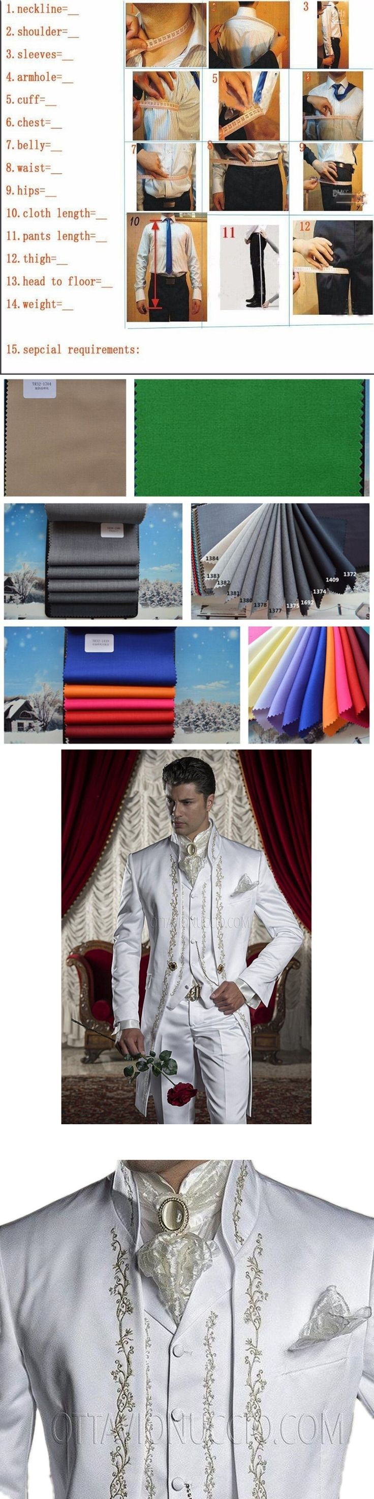 Fashionable men's suits MENS WHITE TAILCOAT EMBROIDERY MORNING SUIT TAILS JACKET HIGH QUALITY Tailored suits