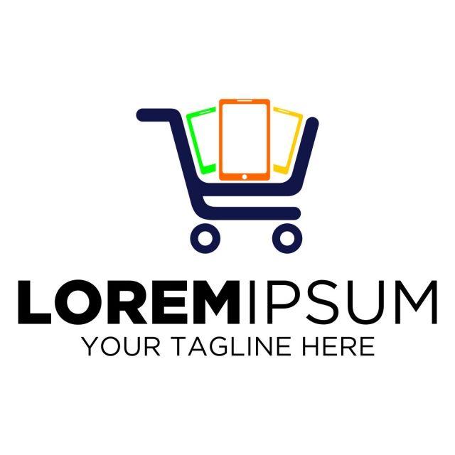 Ttrolley Shop Phone Logo Supermarket Logo Shopping Online Logo Shop Logo Design