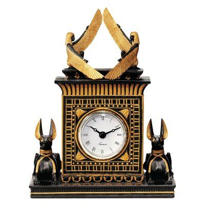 Design Toscano Anubis Egyptian Revival Sculptural Clock