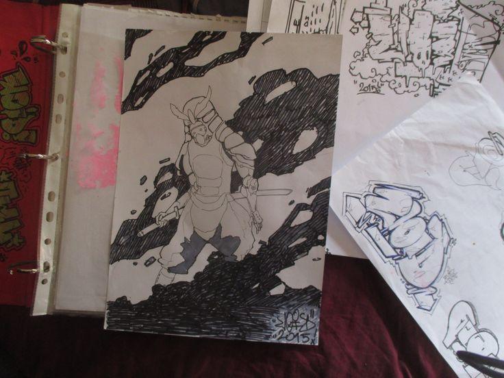 samurai sketch by me: #samurai #sketch #book