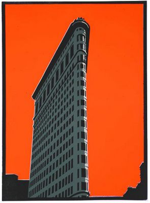 Paul Catherall. Flat iron building. New York.
