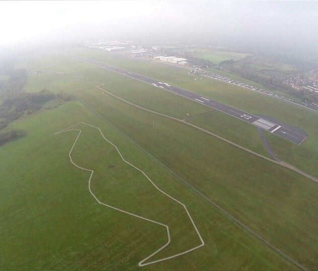 World's biggest Mo on the ground at Southampton Airport for Movember #MASSIVEMO #moustache #mustache