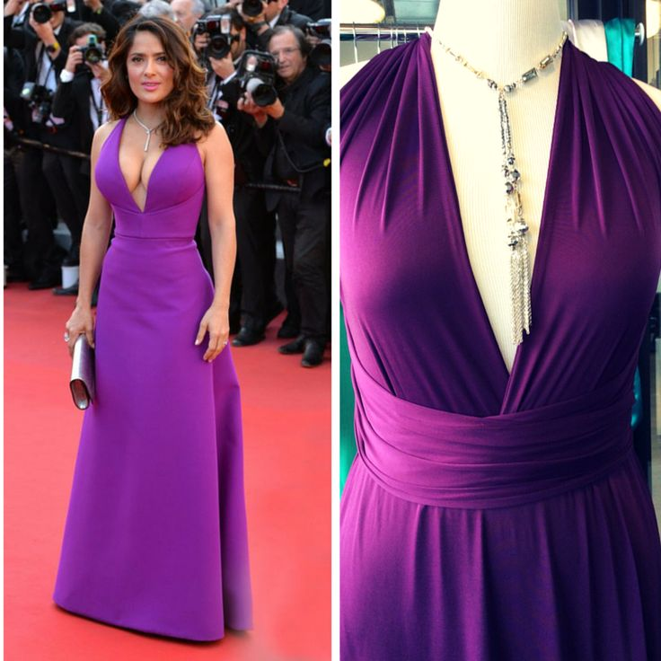 The #Cannes edition...In the style of Salma Hayek - Order a free swatch or try a Sneak Peek! Versatile multiway Nanaya bridesmaid dress available in mint green, emerald green, lavender dust, plum, charcoal, silver gray, coral, salmon peach, cobalt blue and nude beige. #multiwaydress #cbmflair #bridesmaid #weddingwish4u #bridesmaidinspiration #hollywoodfashion #cannes #cannesfashion #weddinginspiration Photo of Salma Hayek via Yahoo
