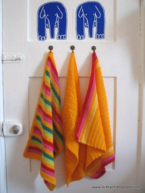 Hæklede håndklæder - med opskrift