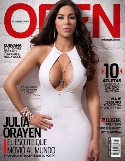 Esta chica le dio un toque peculiar a la politica, en México, en el 2012, hizo por primero vez sensuales a unas elecciones presidenciales. Julia Orayen, bizcocho.