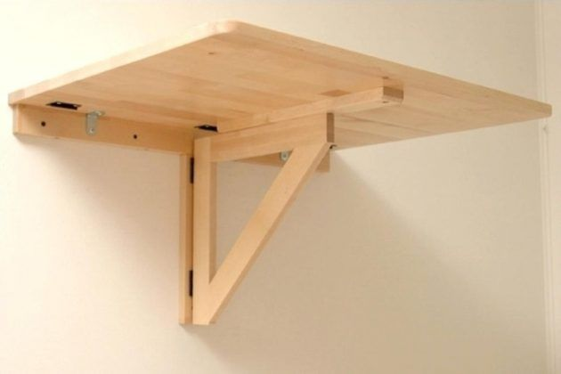 Diy Wall Hung Workbench Plans With Images Wall Table Diy Fold