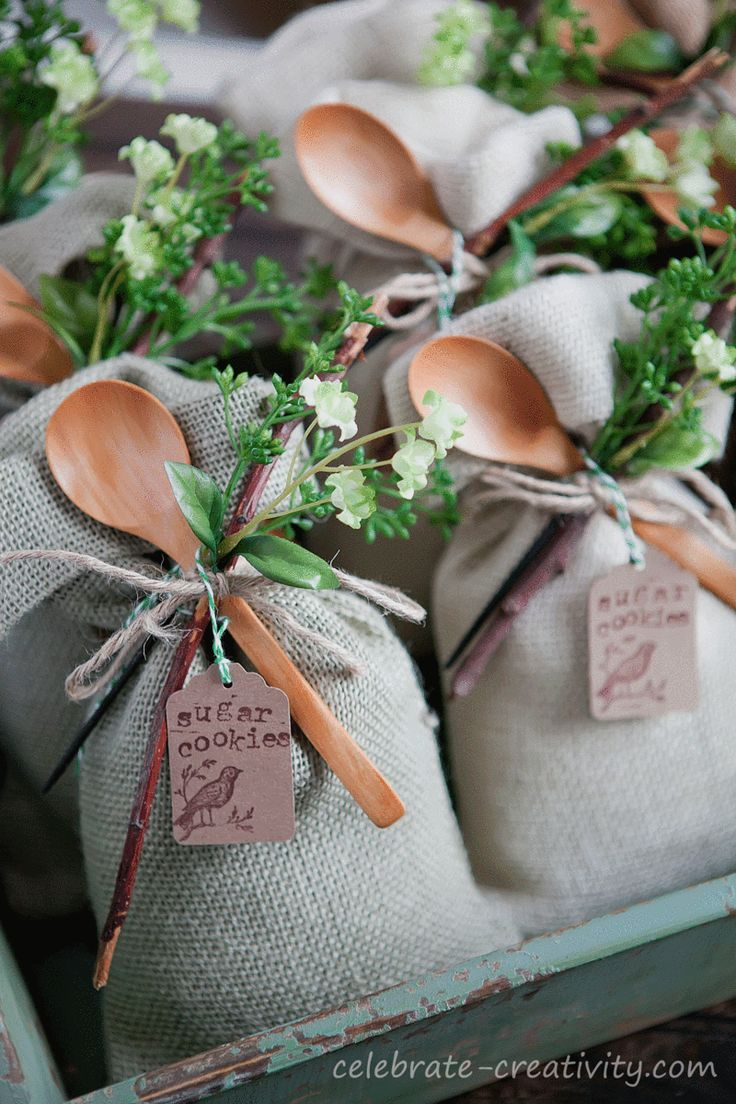 Spring-inspired, cookie mix gift sacks.