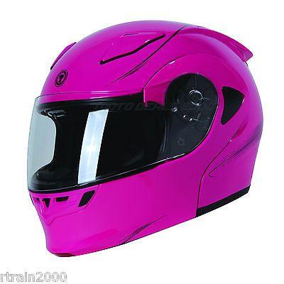 TORC T23 SHOGUN PINK FLOURISH FLIP UP/ MODULAR Motorcycle Helmet NEW!