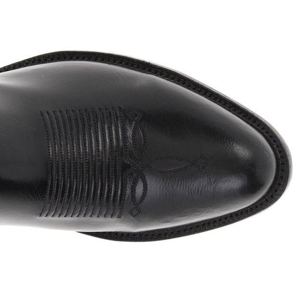 Tony Lama 1009 (Black Goat) Cowboy Boots ($334) ❤ liked on Polyvore featuring men's fashion, men's shoes, men's boots, black, mens cowboy boots, mens black cowboy boots, mens black boots, mens western shoes and mens black leather shoes
