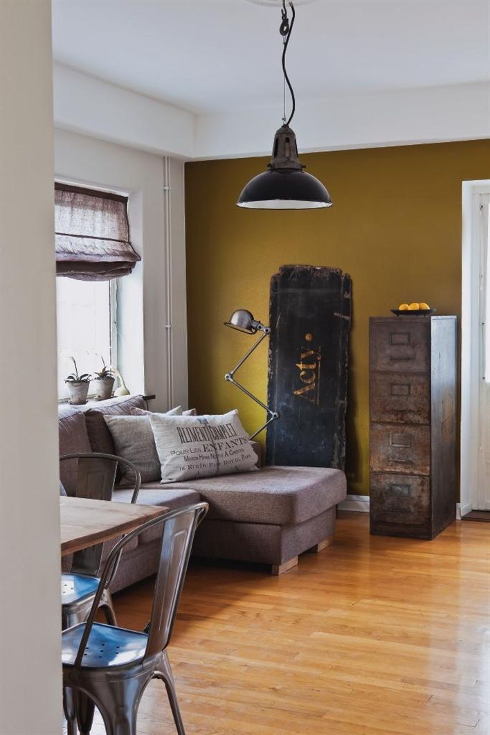 17 best images about industrial distressed living room on - Best living room accent wall colors ...